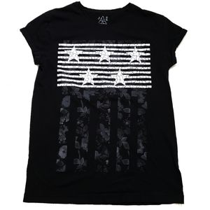 JEM Collective Black & White Stars & Stripes T, M